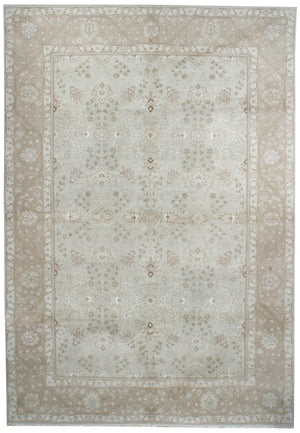 n6035 - Classic Tabriz Rug (Wool and Silk) - 10' x 14' | OAKRugs by Chelsea affordable wool rugs, handmade wool area rugs, wool and silk rugs contemporary