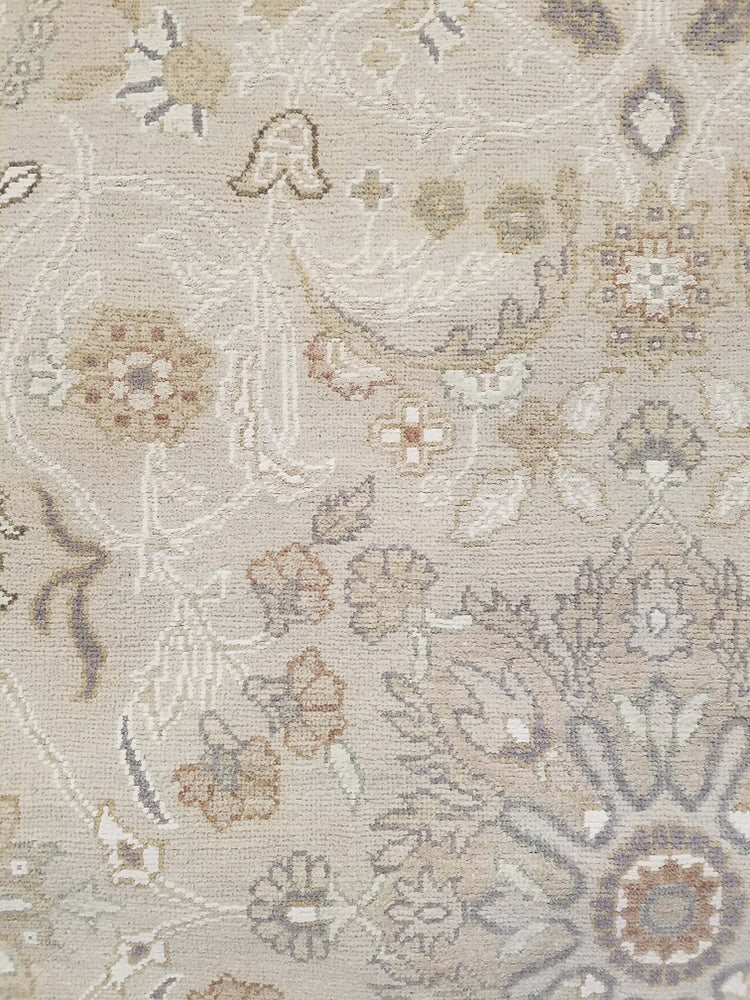 n6039 - Transitional Tabriz Rug (Wool and Silk) - 9' x 15' | OAKRugs by Chelsea high end wool rugs, hand knotted wool area rugs, quality wool rugs