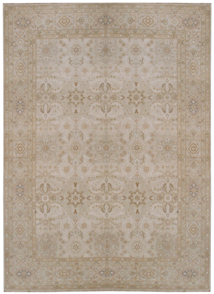 n6039 - Transitional Tabriz Rug (Wool and Silk) - 9' x 15' | OAKRugs by Chelsea affordable wool rugs, handmade wool area rugs, wool and silk rugs contemporary