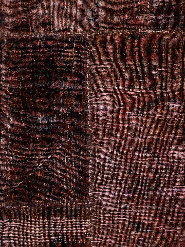 n6044 - Transitional Patchwork Rug (Wool) - 6' x 10' | OAKRugs by Chelsea wool silk rugs contemporary, handmade modern wool rugs, wool silk area rugs contemporary
