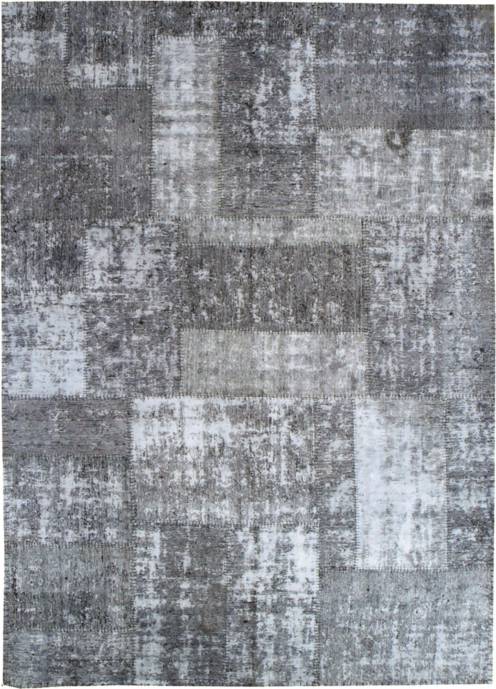 n6045 - Transitional Patchwork Rug (Wool) - 6' x 10' | OAKRugs by Chelsea inexpensive wool rugs, unique wool rugs, wool rug vintage