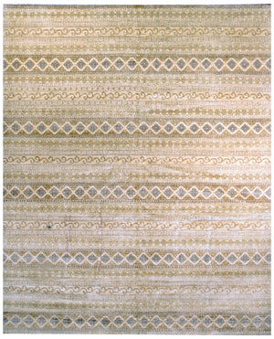 n6054 - Transitional Ikat Rug (Wool) - 8' x 10' | OAKRugs by Chelsea affordable wool rugs, handmade wool area rugs, wool and silk rugs contemporary