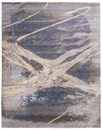 n6068 - Contemporary Abstract Rug (Wool) - 8' x 10' | OAKRugs by Chelsea inexpensive wool rugs, unique wool rugs, wool rug vintage