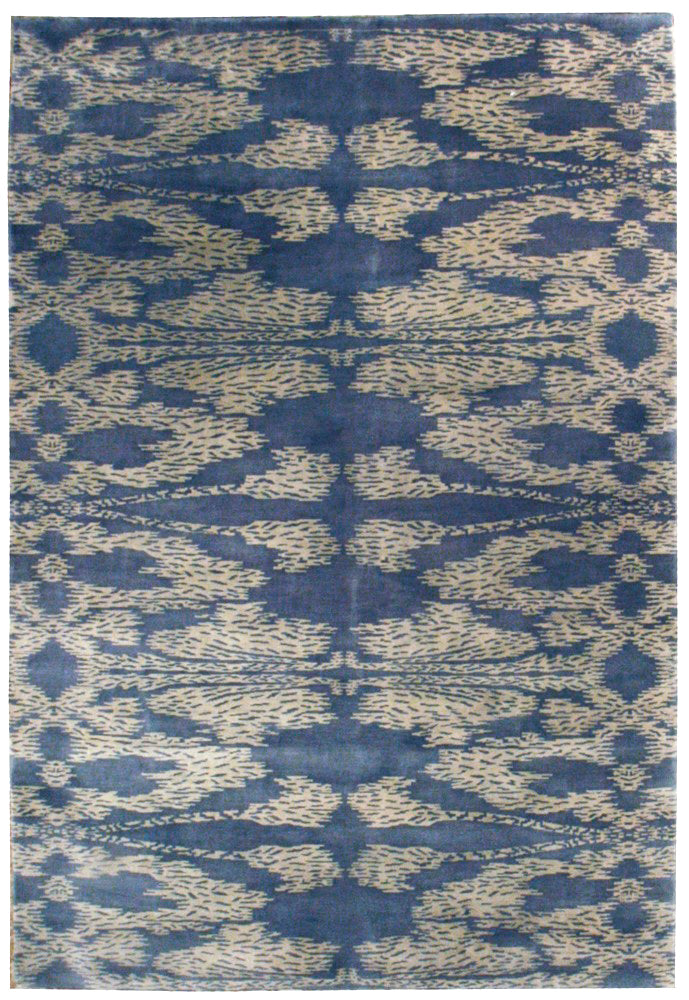 n6072 - Contemporary Abstract Rug (Wool) - 6' x 9' | OAKRugs by Chelsea inexpensive wool rugs, unique wool rugs, wool rug vintage