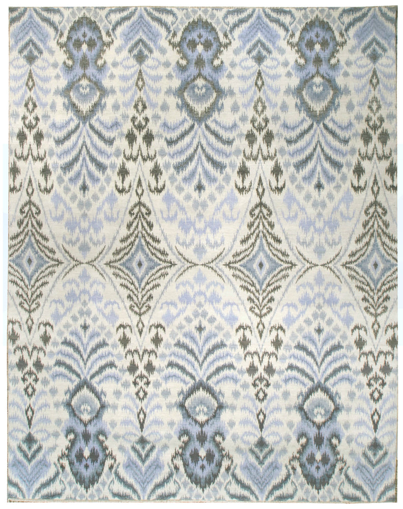 n6084 - Transitional Ikat Rug (Wool) - 8' x 10' | OAKRugs by Chelsea inexpensive wool rugs, unique wool rugs, wool rug vintage