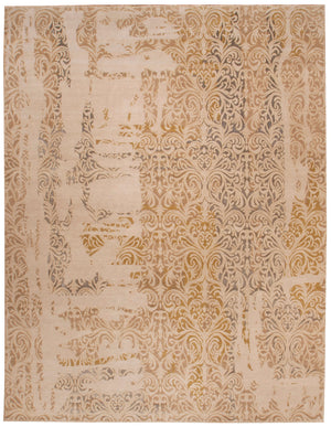 n6089 - Transitional Damask Rug (Wool) - 8' x 10' | OAKRugs by Chelsea inexpensive wool rugs, unique wool rugs, wool rug vintage