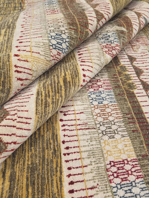n6090 - Transitional Nandini Rug (Wool) - 9' x 12' | OAKRugs by Chelsea high end wool rugs, hand knotted wool area rugs, quality wool rugs