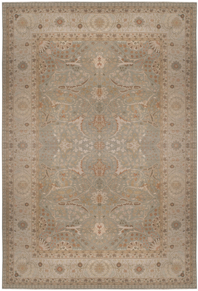 n6091 - Transitional Tabriz Rug (Wool and Silk) - 15' x 22' | OAKRugs by Chelsea affordable wool rugs, handmade wool area rugs, wool and silk rugs contemporary