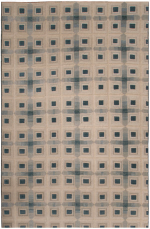 n6092 - Contemporary Embossed Rug (Wool and Silk) - 6' x 9' | OAKRugs by Chelsea inexpensive wool rugs, unique wool rugs, wool rug vintage