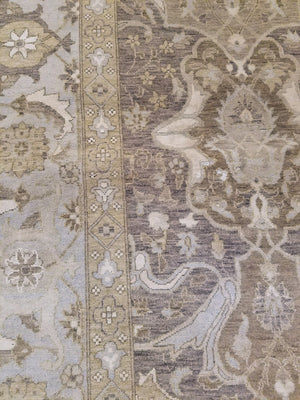 n6097 - Transitional Tabriz Rug (Wool and Silk) - 8' x 10' | OAKRugs by Chelsea wool bohemian rugs, good quality wool rugs, vintage wool braided rug