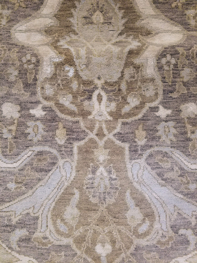 n6097 - Transitional Tabriz Rug (Wool and Silk) - 8' x 10' | OAKRugs by Chelsea high end wool rugs, hand knotted wool area rugs, quality wool rugs