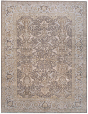 n6097 - Transitional Tabriz Rug (Wool and Silk) - 8' x 10' | OAKRugs by Chelsea affordable wool rugs, handmade wool area rugs, wool and silk rugs contemporary