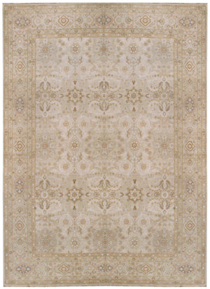 n6099 - Transitional Tabriz Rug (Wool and Silk) - 9' x 12' | OAKRugs by Chelsea affordable wool rugs, handmade wool area rugs, wool and silk rugs contemporary