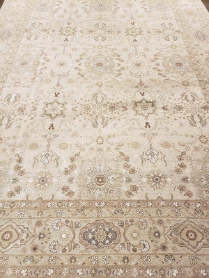 n6099 - Transitional Tabriz Rug (Wool and Silk) - 9' x 12' | OAKRugs by Chelsea high end wool rugs, hand knotted wool area rugs, quality wool rugs