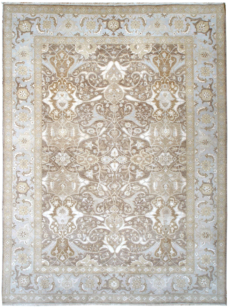 n6110 - Transitional Tabriz Rug (Wool and Silk) - 9' x 12' | OAKRugs by Chelsea affordable wool rugs, handmade wool area rugs, wool and silk rugs contemporary