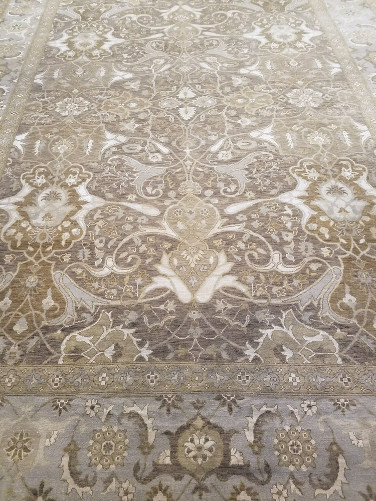n6110 - Transitional Tabriz Rug (Wool and Silk) - 9' x 12' | OAKRugs by Chelsea wool bohemian rugs, good quality wool rugs, vintage wool braided rug