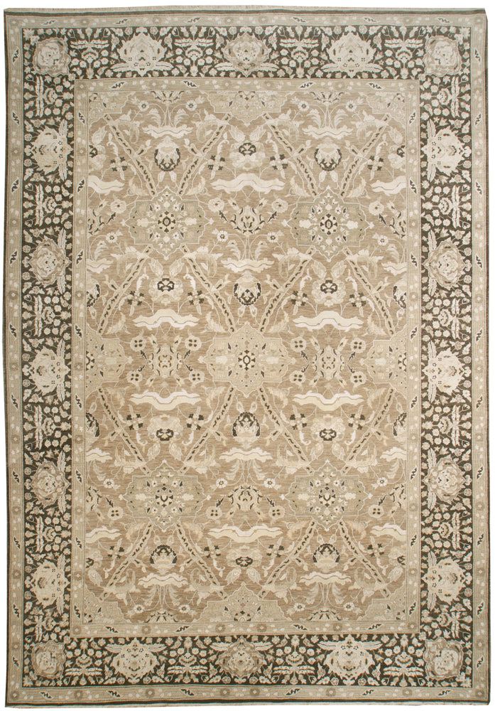 n6112 - Classic Zeigler Rug (Wool and Silk) - 10' x 14' | OAKRugs by Chelsea affordable wool rugs, handmade wool area rugs, wool and silk rugs contemporary