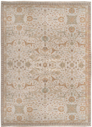 n6117 - Transitional Tabriz Rug (Wool and Silk) - 10' x 13' | OAKRugs by Chelsea affordable wool rugs, handmade wool area rugs, wool and silk rugs contemporary