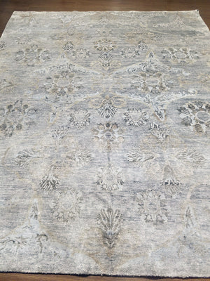 n6118 - Transitional Bamboo Rug (Bamboo Silk) - 8' x 10' | OAKRugs by Chelsea handmade contemporary rugs, high quality modern hand woven rugs, American made wool rugs