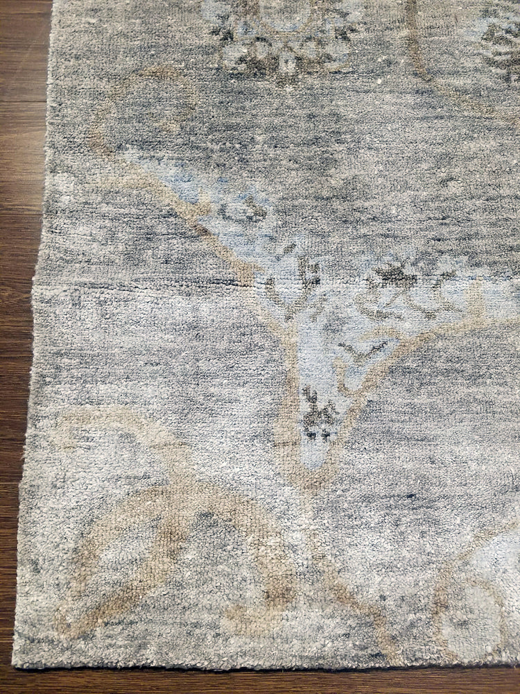 n6118 - Transitional Bamboo Rug (Bamboo Silk) - 8' x 10' | OAKRugs by Chelsea wool silk rugs contemporary, handmade modern wool rugs, wool silk area rugs contemporary