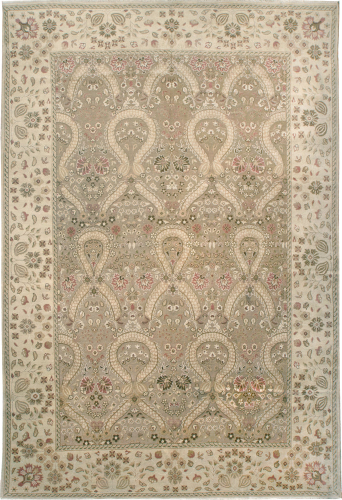 n6125 - European High and Low Rug (Wool) - 10' x 14' | OAKRugs by Chelsea affordable wool rugs, handmade wool area rugs, wool and silk rugs contemporary