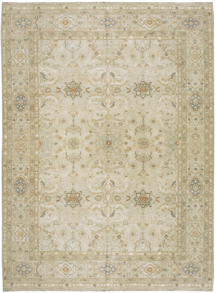 n6129 - Transitional Tabriz Rug (Wool and Silk) - 8' x 10' | OAKRugs by Chelsea affordable wool rugs, handmade wool area rugs, wool and silk rugs contemporary