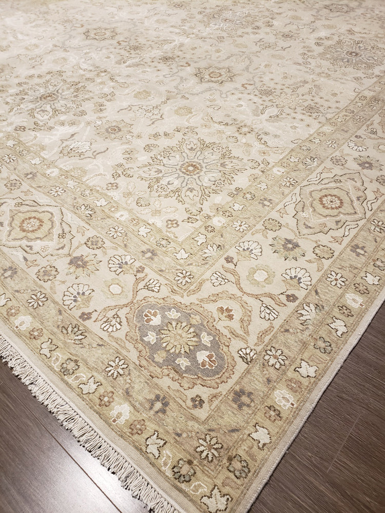 n6131 - Transitional Tabriz Rug (Wool and Silk) - 10' x 14' | OAKRugs by Chelsea high end wool rugs, hand knotted wool area rugs, quality wool rugs
