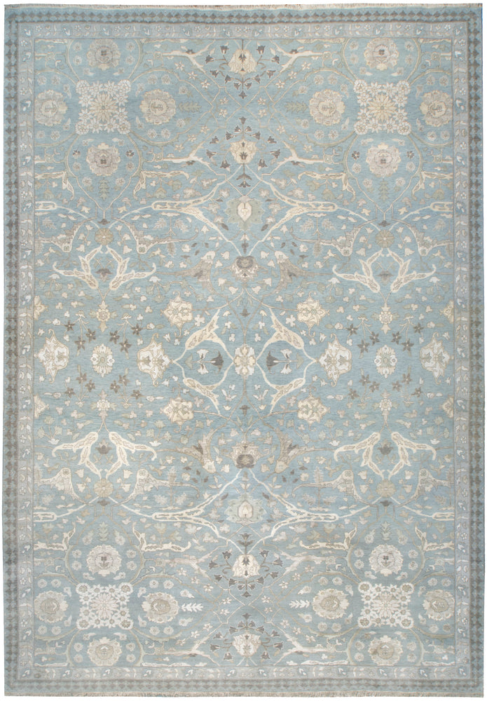 n6133 - Transitional Tabriz Rug (Wool and Silk) - 9' x 12' | OAKRugs by Chelsea affordable wool rugs, handmade wool area rugs, wool and silk rugs contemporary