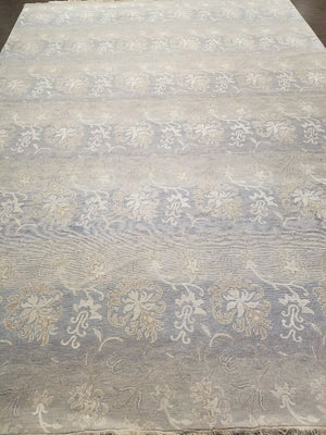 n6134 - Classic Tabriz Rug (Wool and Silk) - 10' x 14' | OAKRugs by Chelsea handmade contemporary rugs, high quality modern hand woven rugs, American made wool rugs
