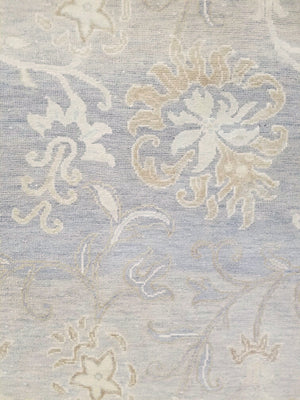 n6134 - Classic Tabriz Rug (Wool and Silk) - 10' x 14' | OAKRugs by Chelsea wool silk rugs contemporary, handmade modern wool rugs, wool silk area rugs contemporary