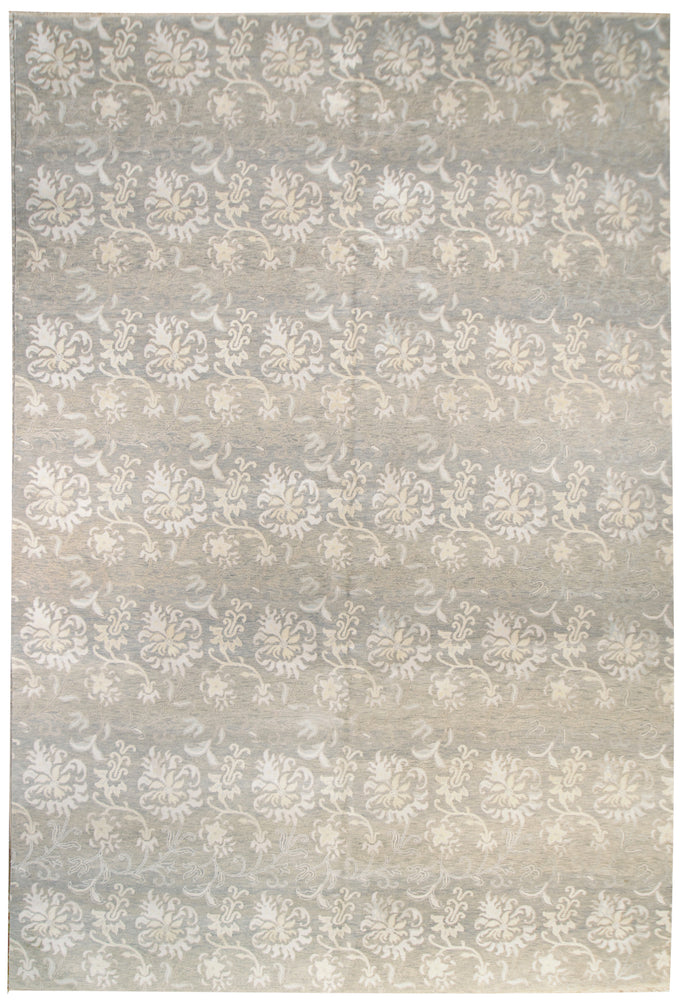 n6134 - Classic Tabriz Rug (Wool and Silk) - 10' x 14' | OAKRugs by Chelsea inexpensive wool rugs, unique wool rugs, wool rug vintage