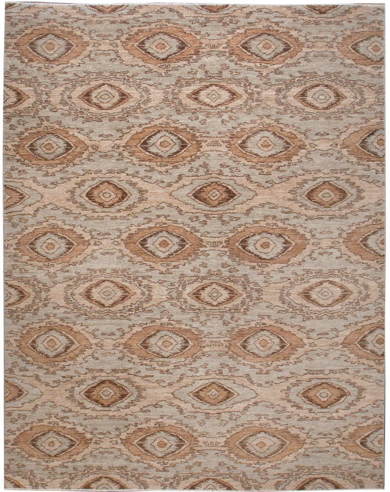 n6165 - Transitional Ikat Rug (Wool) - 8' x 10' | OAKRugs by Chelsea inexpensive wool rugs, unique wool rugs, wool rug vintage