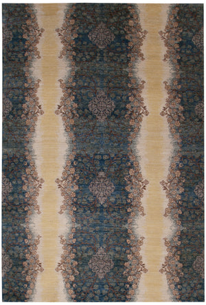 n6168 - Transitional Pakistan Rug (Wool) - 6' x 9' | OAKRugs by Chelsea affordable wool rugs, handmade wool area rugs, wool and silk rugs contemporary