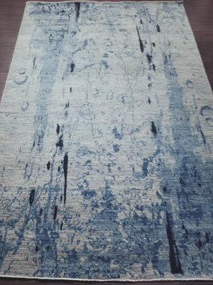 n6169 - Contemporary Abstract Rug (Wool) - 6' x 9' | OAKRugs by Chelsea handmade contemporary rugs, high quality modern hand woven rugs, American made wool rugs
