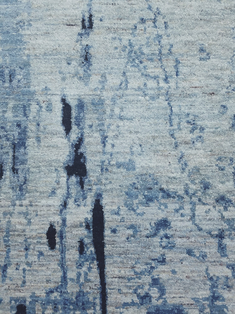 n6169 - Contemporary Abstract Rug (Wool) - 6' x 9' | OAKRugs by Chelsea wool silk rugs contemporary, handmade modern wool rugs, wool silk area rugs contemporary