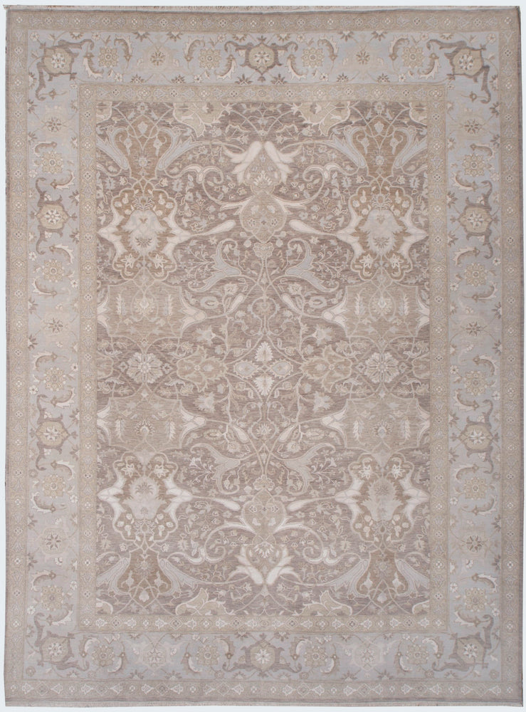 n6170 - Transitional Tabriz Rug (Wool and Silk) - 15' x 25' | OAKRugs by Chelsea affordable wool rugs, handmade wool area rugs, wool and silk rugs contemporary