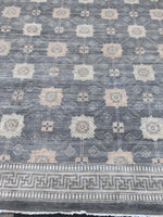 n6172 - Transitional All Over Rug (Wool) - 14' x 20' | OAKRugs by Chelsea wool silk rugs contemporary, handmade modern wool rugs, wool silk area rugs contemporary