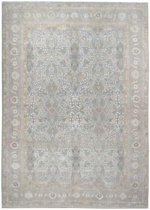 n6180 - Transitional Tabriz Rug (Wool and Silk) - 10' x 14' | OAKRugs by Chelsea affordable wool rugs, handmade wool area rugs, wool and silk rugs contemporary