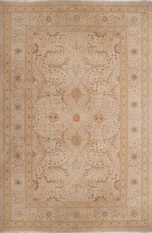 n6182 - Classic Tabriz Rug (Wool) - 12' x 18' | OAKRugs by Chelsea affordable wool rugs, handmade wool area rugs, wool and silk rugs contemporary
