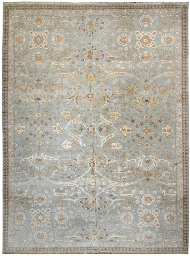 n6187 - Transitional Tabriz Rug (Wool and Silk) - 10' x 14' | OAKRugs by Chelsea affordable wool rugs, handmade wool area rugs, wool and silk rugs contemporary