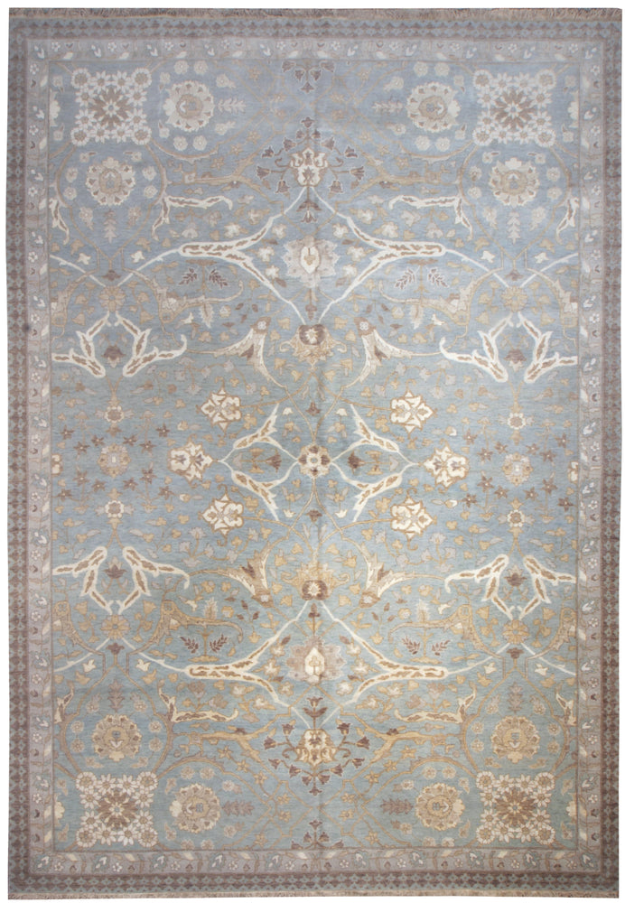 n6188 - Transitional Tabriz Rug (Wool and Silk) - 9' x 13' | OAKRugs by Chelsea affordable wool rugs, handmade wool area rugs, wool and silk rugs contemporary