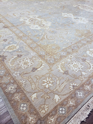 n6189 - Transitional Tabriz Rug (Wool and Silk) - 9' x 12' | OAKRugs by Chelsea wool bohemian rugs, good quality wool rugs, vintage wool braided rug