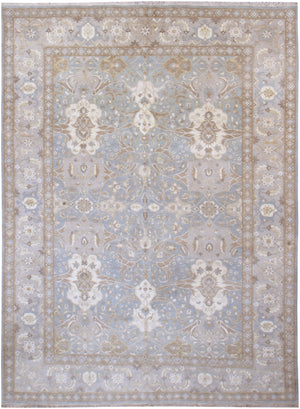 n6189 - Transitional Tabriz Rug (Wool and Silk) - 9' x 12' | OAKRugs by Chelsea high end wool rugs, hand knotted wool area rugs, quality wool rugs