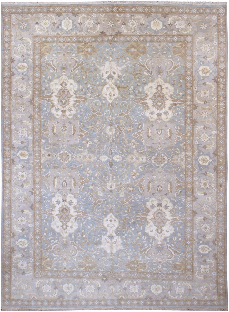 n6189 - Transitional Tabriz Rug (Wool and Silk) - 9' x 12' | OAKRugs by Chelsea affordable wool rugs, handmade wool area rugs, wool and silk rugs contemporary
