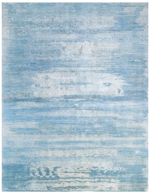 n6196 - Contemporary Abstract Rug (Wool and Silk) - 8' x 10' | OAKRugs by Chelsea inexpensive wool rugs, unique wool rugs, wool rug vintage
