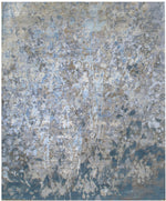 n6197 - Contemporary Abstract Rug (Wool and Silk) - 8' x 10' | OAKRugs by Chelsea inexpensive wool rugs, unique wool rugs, wool rug vintage