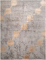 n6199 - Contemporary Abstract Rug (Wool and Silk) - 8' x 10' | OAKRugs by Chelsea inexpensive wool rugs, unique wool rugs, wool rug vintage