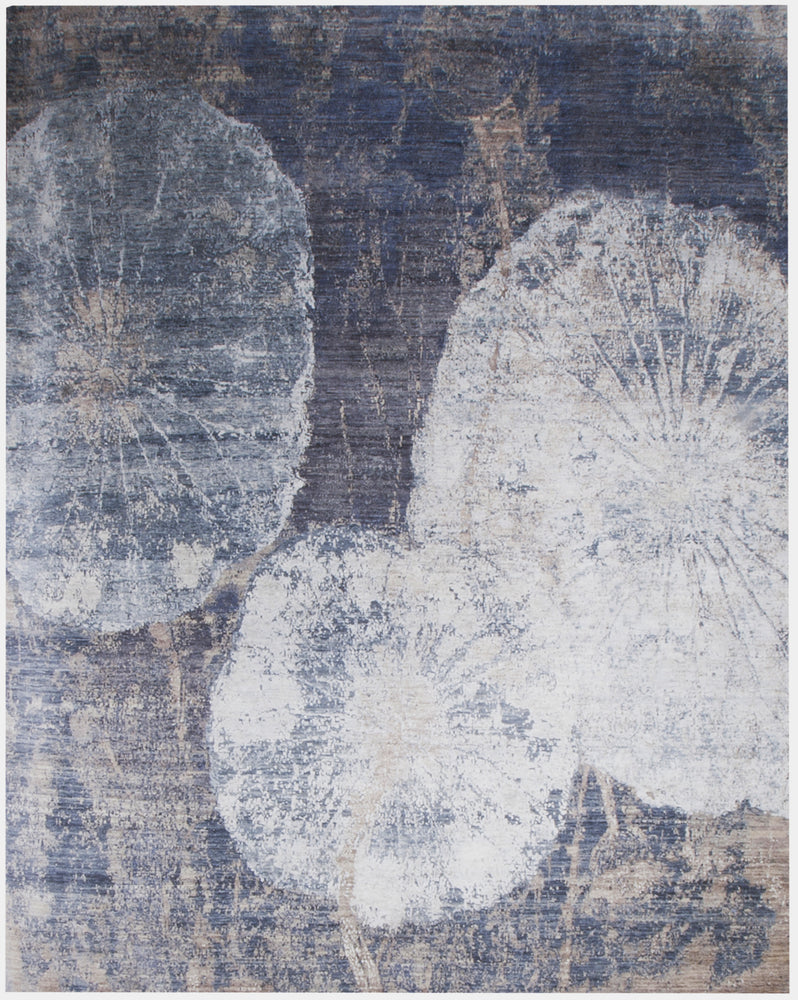 n6201 - Contemporary Abstract Rug (Wool and Silk) - 8' x 10' | OAKRugs by Chelsea inexpensive wool rugs, unique wool rugs, wool rug vintage