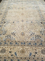 n6202 - Classic Tabriz Rug (Wool) - 10' x 14' | OAKRugs by Chelsea high end wool rugs, hand knotted wool area rugs, quality wool rugs
