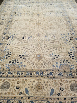 n6202 - Classic Tabriz Rug (Wool) - 10' x 14' | OAKRugs by Chelsea wool bohemian rugs, good quality wool rugs, vintage wool braided rug